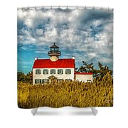 Renovated East Point Lighthouse Shower Curtain