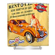 Rent A Car Shower Curtain