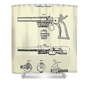 Repeating Firearm-1855 Shower Curtain