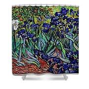 replica of Van Gogh irises Shower Curtain