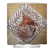Repose- Tile Shower Curtain