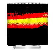 Representational Abstract Sunset Shower Curtain by Eric  Schiabor