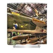 Republic F-105 Thunderchief Shower Curtain
