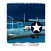 Republic P-47n Thunderbolt Shower Curtain