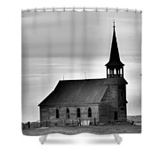 Requiem For An Old Church  Shower Curtain