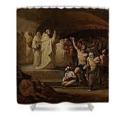 Rescue Captives In Times Of Carlos IIi Inglada Aparicio And Jose Shower Curtain