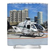Rescue Helocopter Shower Curtain