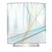 Research Computer Graphic Line Pattern Shower Curtain