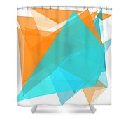 Research Polygon Pattern Shower Curtain
