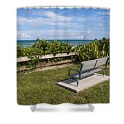 Reserved For A Visitor To East Coast Florida Shower Curtain