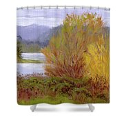 Reservoir Spring Shower Curtain