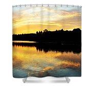 Reservoir Sunset 1 Shower Curtain
