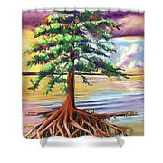 Resilient Cypress Shower Curtain