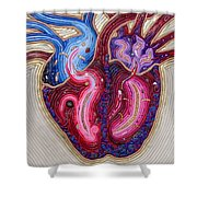 Resilient Heart Shower Curtain