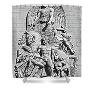 Resistance B-w Shower Curtain