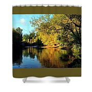 Yamhill River Reflections Shower Curtain