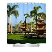 Resort Fountains Shower Curtain