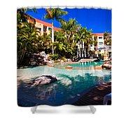 Resort Pool Shower Curtain