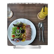 restourant food in Thailand Shower Curtain