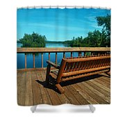 Rest A While Shower Curtain
