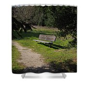 Rest Along The Path Shower Curtain