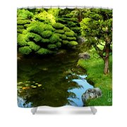 Rest By The Pond Shower Curtain
