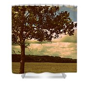 Rest Shower Curtain by Diane Reed