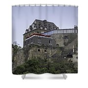 Restaurant At Rheinfels Castle Shower Curtain