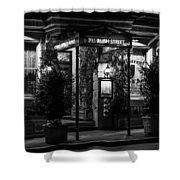 Restaurant Jeanne D'arc Bw Shower Curtain