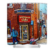 Restaurant John Montreal Shower Curtain