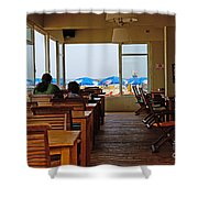 Restaurant On A Beach In Tel Aviv Israel Shower Curtain