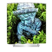 Restful Moment In The Garden Shower Curtain