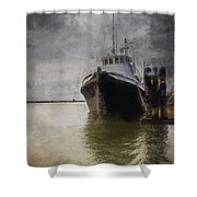 Resting At The Dock Shower Curtain