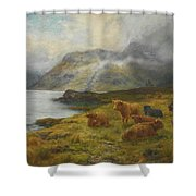 Resting By A Loch Shower Curtain
