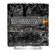 Resting Flowers Shower Curtain