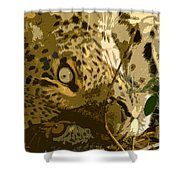 Resting Leopard Shower Curtain