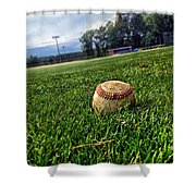 Resting Pitch Shower Curtain
