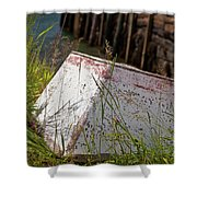 Resting Rowboat Shower Curtain