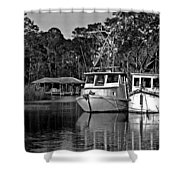 Resting Shrimp Boats Shower Curtain