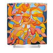 Restless Mind Shower Curtain