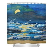 Restless Waves  Shower Curtain