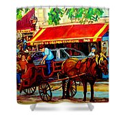 Resto La Grande Terrasse Shower Curtain