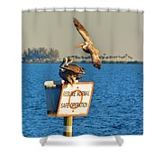 Resume Normal Safe Operation Shower Curtain