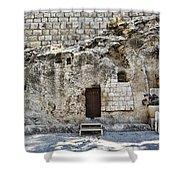 Resurrection - Garden Tomb Shower Curtain