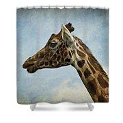 Reticulated Giraffe Head Shower Curtain