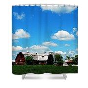 Retired Barn Shower Curtain