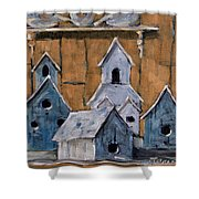 Retired Bird Houses By Prankearts Fine Arts Shower Curtain