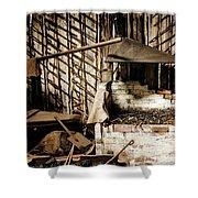 Retired Blacksmith Shower Curtain
