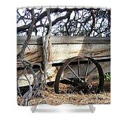 Retired Farm Wagon Shower Curtain