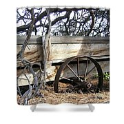 Retired Farm Wagon Shower Curtain